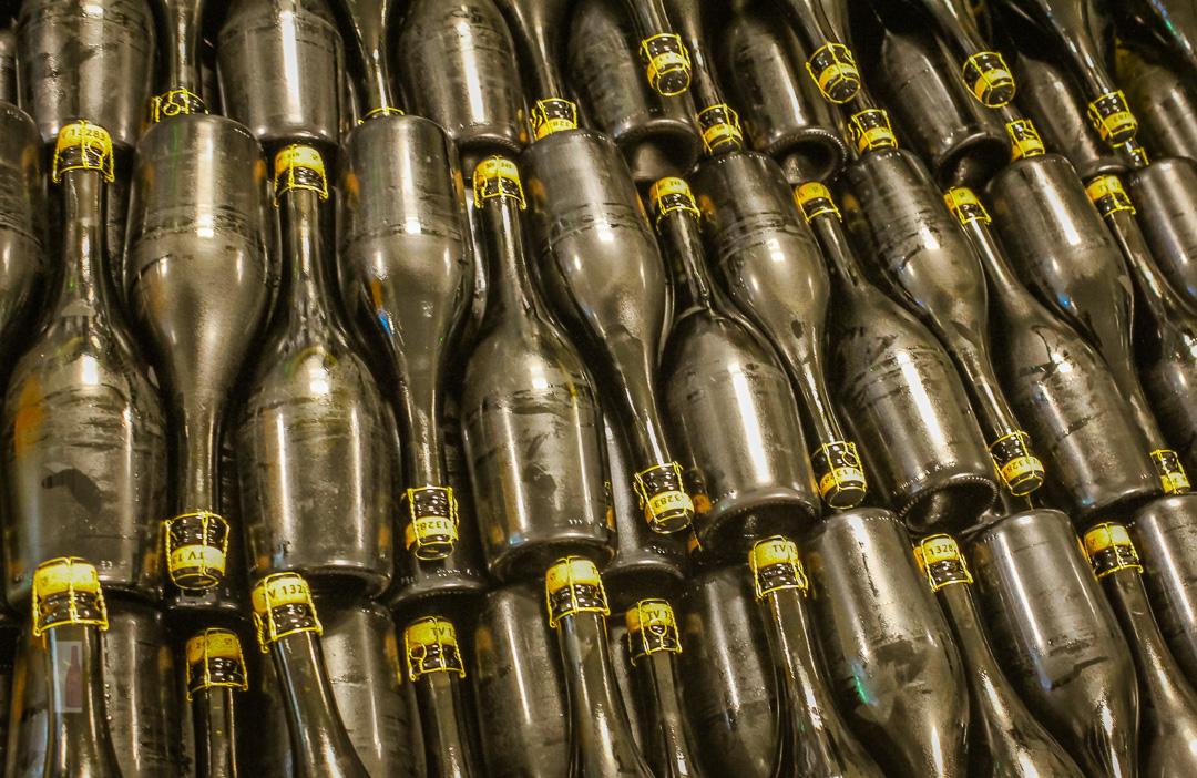 Prosecco Flaschen ohne Label