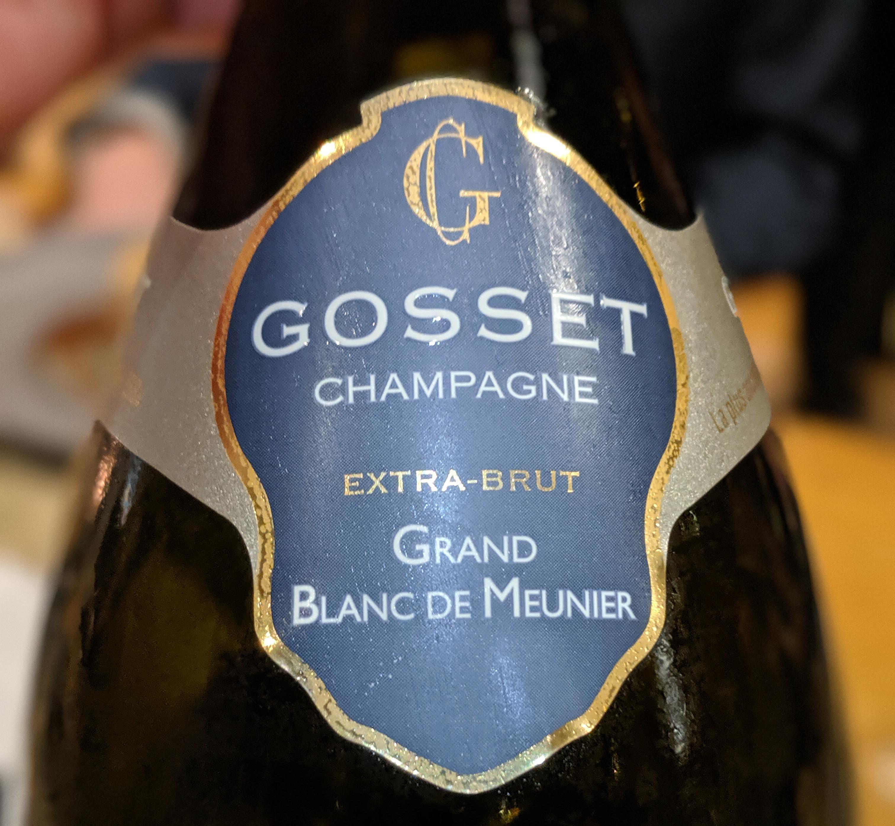Grand Blanc de Meunier Gosset Champagner
