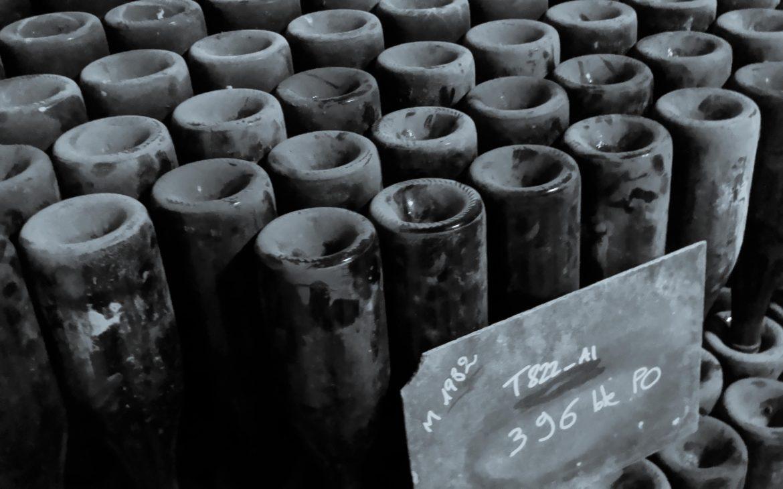 Flaschenlagerung bei Gosset Champagner im Keller